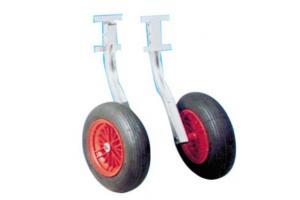 Transport wielen RVS opklapbaar
