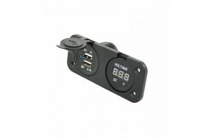USB lader met voltmeter