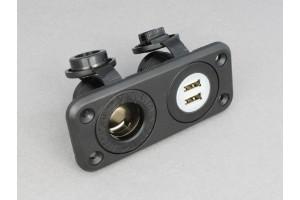 USB & 12 volt plug