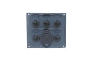 Schakelpaneel 5 polig met 12V aansluiting