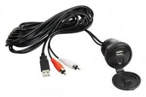 USB-MP3 kabel incl. inbouw plug